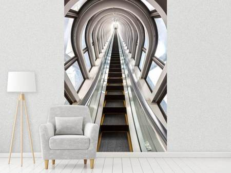 Photo Wallpaper Futuristic Escalator