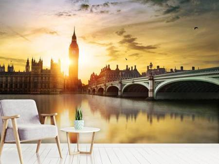Photo Wallpaper Skyline Big Ben In Sunset